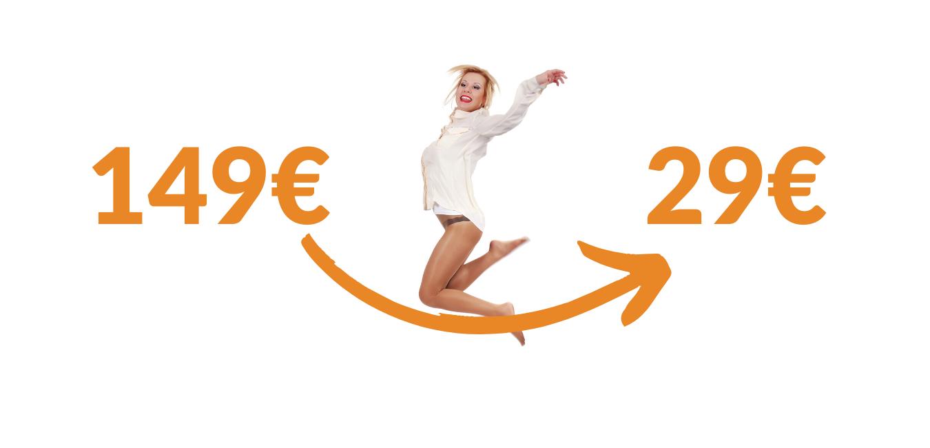 149 naar 29€